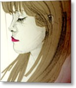 Portrait Of A Lovely Young Woman Metal Print