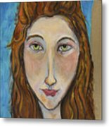 Portrait Of A Girl Metal Print