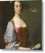 Portrait Of A Lady In Van Dyck Dress Metal Print