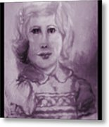 Portrait Of A Little Girl Metal Print