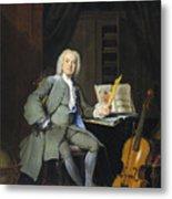 Portrait Of A Member Of The Van Der Mersch Family, 1736 Metal Print