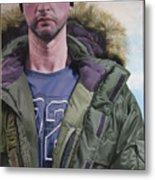 Portrait Of A Mountain Walker. Metal Print