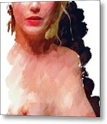 Portrait Of A Naked Lady Metal Print