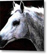 Portrait Of A Pale Horse Metal Print
