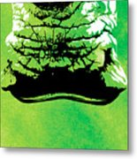 Rhino Animal Decorative Green Poster 8 - By  Diana Van Metal Print