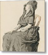 Portrait Of A Seated Woman Metal Print