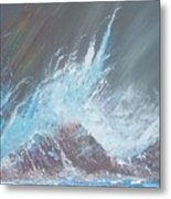 Portrait Of A Wave Metal Print