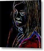 Portrait Of A Woman Metal Print