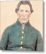 Portrait Of A Young  Civil War Soldier 3 Metal Print