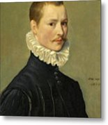 Portrait Of A Young Gentleman Head And Shoulders At The Age Of 23 Metal Print