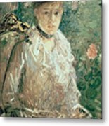 Portrait Of A Young Lady Metal Print by Berthe Morisot