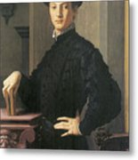 Portrait Of A Young Man Metal Print by Agnolo Bronzino
