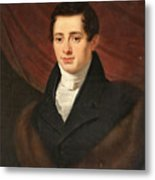 Portrait Of A Young Man In Front Metal Print