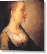 Portrait Of A Young Woman 1640 Metal Print