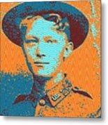 Portrait Of A Young  Wwi Soldier 4 Metal Print