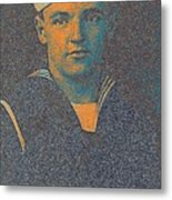 Portrait Of A Young  Wwi Soldier Series 10 Metal Print