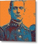 Portrait Of A Young  Wwi Soldier Series 12 Metal Print