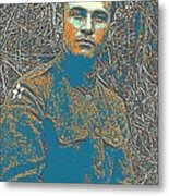 Portrait Of A Young  Wwi Soldier Series 16 Metal Print