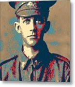 Portrait Of A Young  Wwi Soldier Series 19 Metal Print