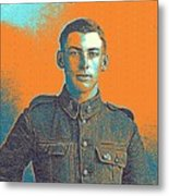 Portrait Of A Young  Wwi Soldier Series 6 Metal Print