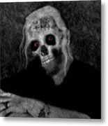 Portrait Of A Zombie Metal Print
