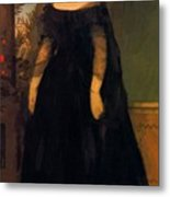 Portrait Of Actress Fanny Janauscher Metal Print