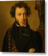 Portrait Of Alexander Pushkin 1827 Metal Print