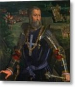 Portrait Of Alfonso I D Este 1530 Metal Print