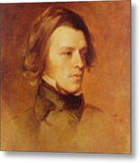 Portrait Of Alfred Lord Tennyson Metal Print