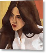 Portrait Of Amelia Metal Print