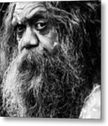 Portrait Of An Australian Aborigine Metal Print by Avalon Fine Art Photography