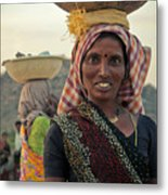 Portrait Of An Indian Lady Metal Print