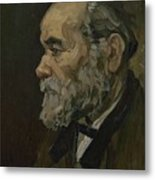 Portrait Of An Old Man Antwerp December 1885 Vincent Van Gogh 1853  1890 Metal Print