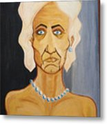 Portrait Of An Old Woman Metal Print