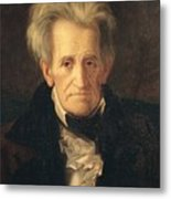 Portrait Of Andrew Jackson Metal Print