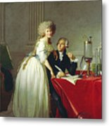 Portrait Of Antoine-laurent Lavoisier And His Wife Metal Print
