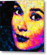 Portrait Of Audrey Hepburn Metal Print