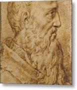 Portrait Of Baccio Bandinelli In Profile To The Right Metal Print