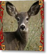 Portrait Of Bambi Metal Print