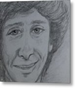 Portrait Of Barry Manilow 3 Metal Print