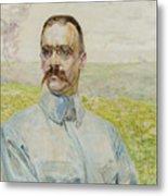 Portrait Of Brigadier Jozef Pilsudski Metal Print
