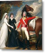 Portrait Of Colonel Fitch And His Sisters Metal Print