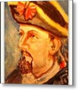 Portrait Of Conrad As British Soldier Metal Print