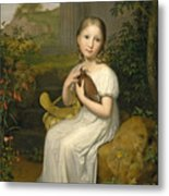 Portrait Of Countess Louise Bose As A Child Metal Print