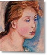 Portrait Of  Country Girl Metal Print