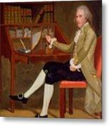 Portrait Of David Baldwin 1790 Metal Print