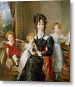 Portrait Of Elizabeth Lea And Her Children Metal Print