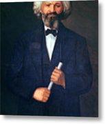 Portrait Of Frederick Douglass Metal Print
