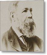 Portrait Of Friedrich Engels Metal Print