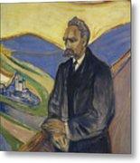 Portrait Of Friedrich Nietzsche Metal Print